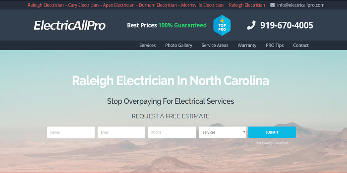electrician raleigh NC